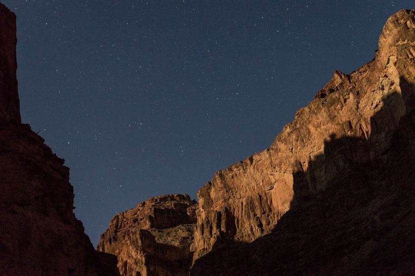 Nachthimmel, nacht, himmel, sterne, grand canyon, natur, rafting, wildwasser, schlauchboot, colorado, river, usa, arizona