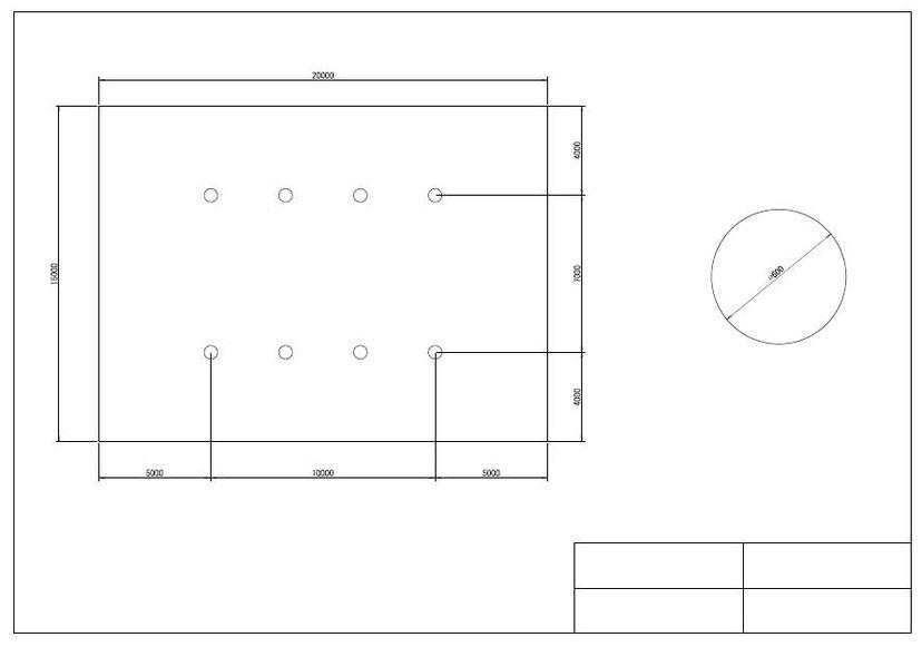 AutoCAD レイアウト機能 異尺度混在図面