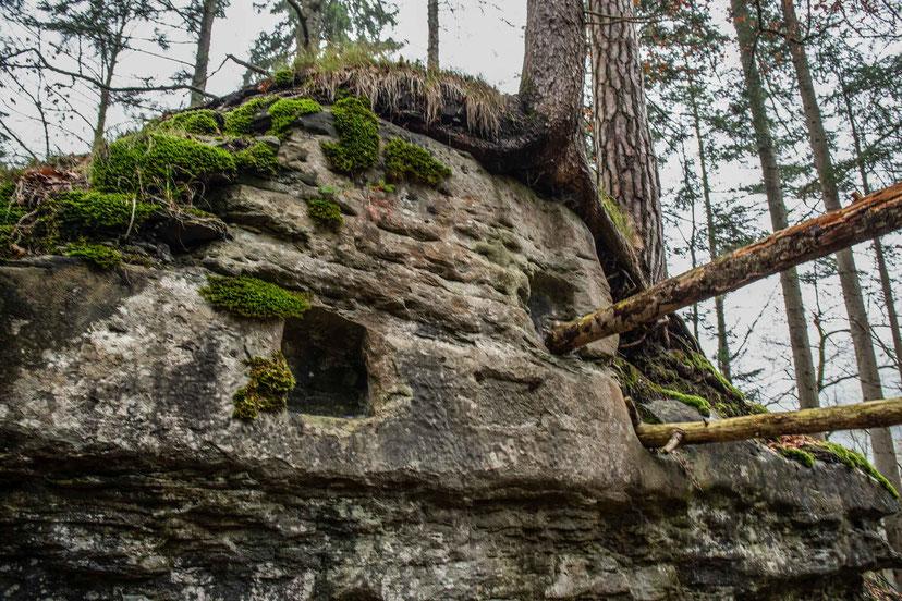 Druidenaltar Schlosschäle Steiglenau Hinterfultigen Kraftortwanderung