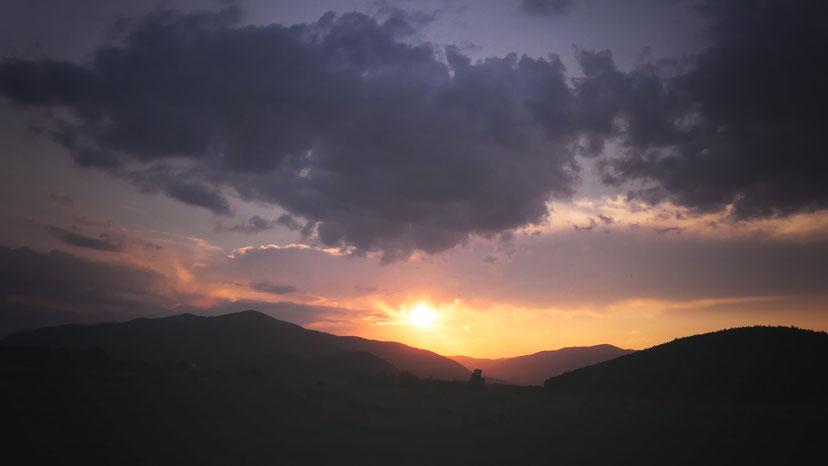 coucher de soleil bulgarie montagne bigousteppes