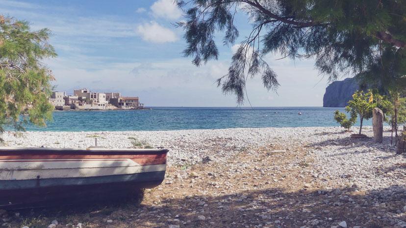 village mer barque bigousteppes gérolimenas magne péloponnèse grèce