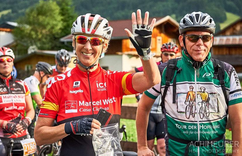 Casa Ciclista meets VOR-TOUR der Hoffnung in Tannheim. Bin als Casa gemeldet, aber brenne gleichzeitig für die  VOR-TOUR :-) (Foto: Achim Meurer, siehe auch die nächsten zwei Fotos)