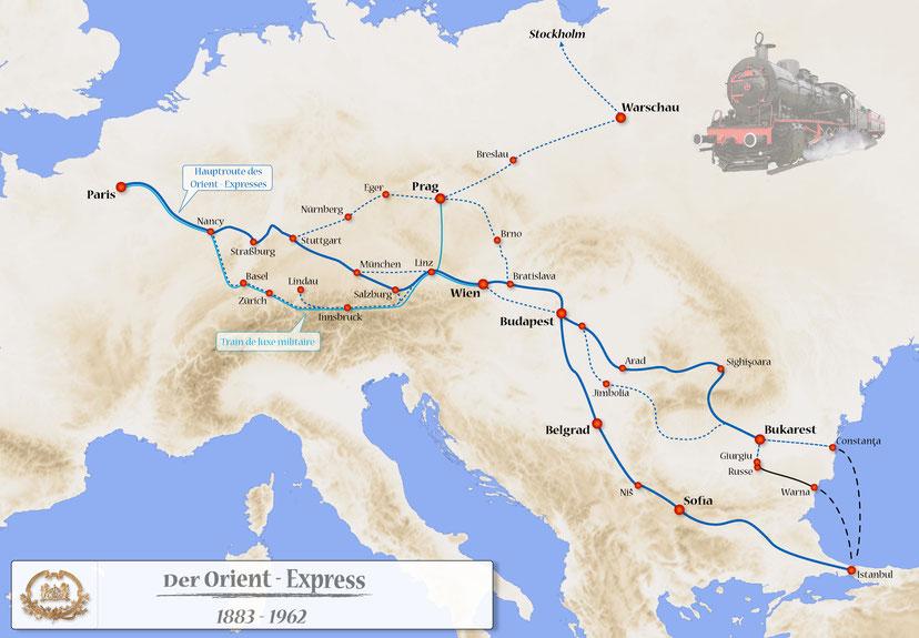 Itinerario dell'Orient Express 1883-1962