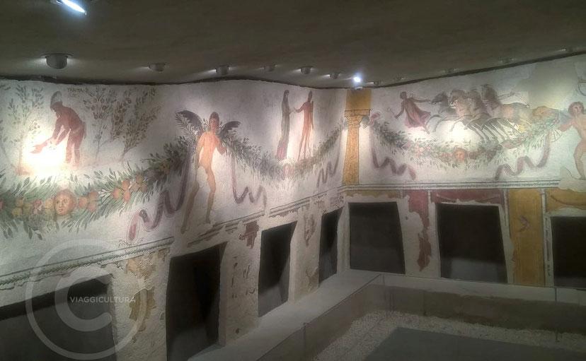 Affreschi romani della Tomba di Tiro - Museo Nazionale di Beirut