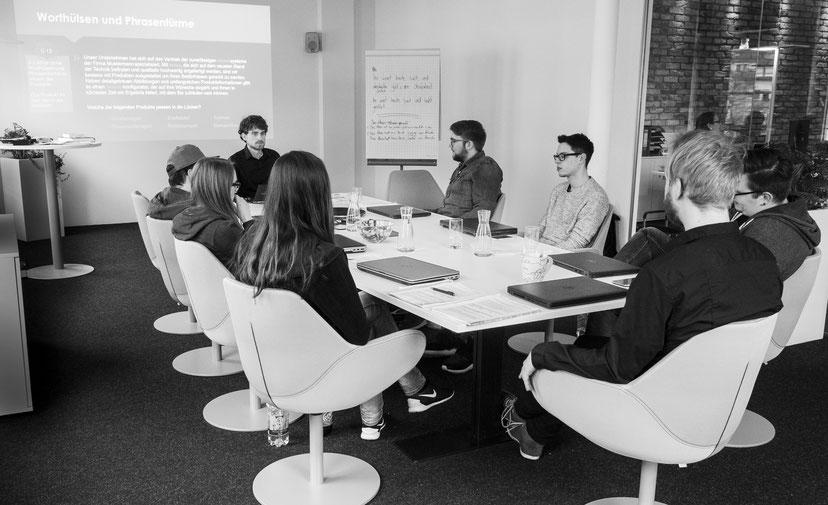 Inhouse-Schulung bei der Internetagentur econsor in Heilbronn. Foto: Benjamin Liedtke, 18.- 19. März 2016