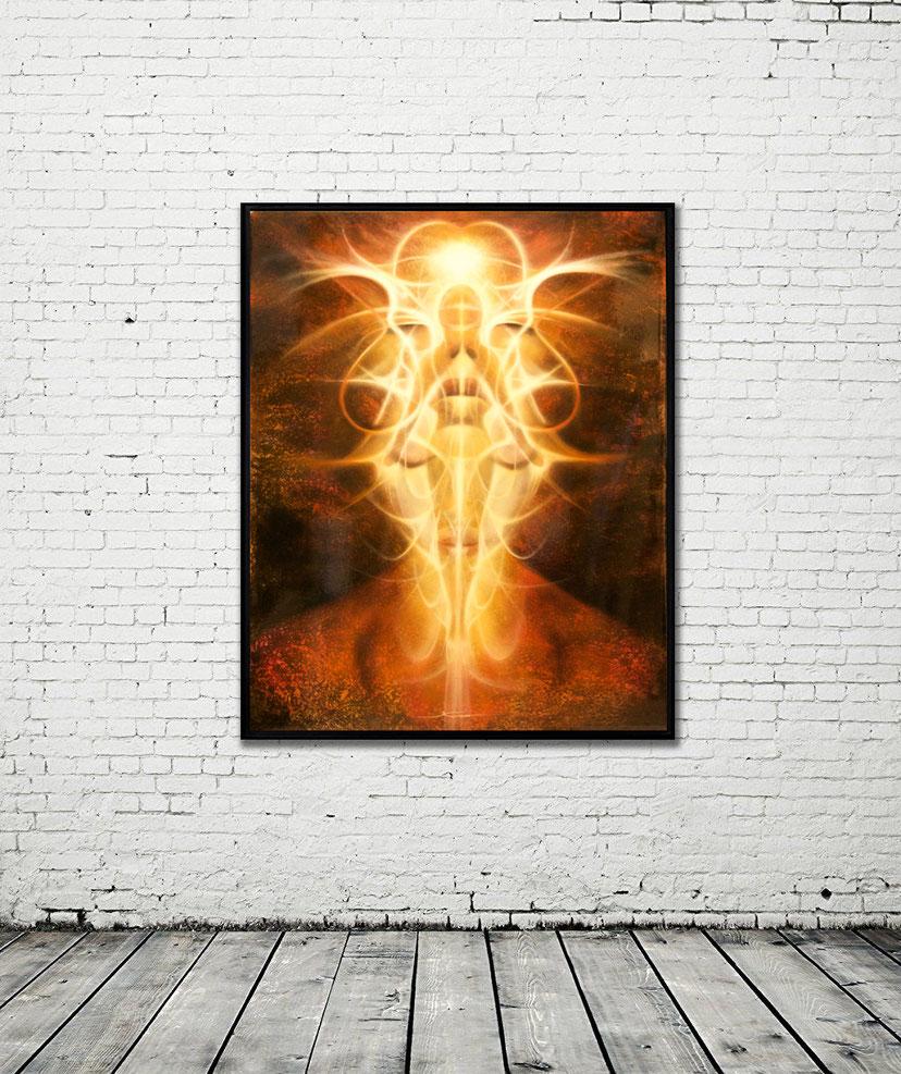 SPIRIT THREE - OIL ON ALUMINUM - 104 cm  X 84 cm - 4.200 €