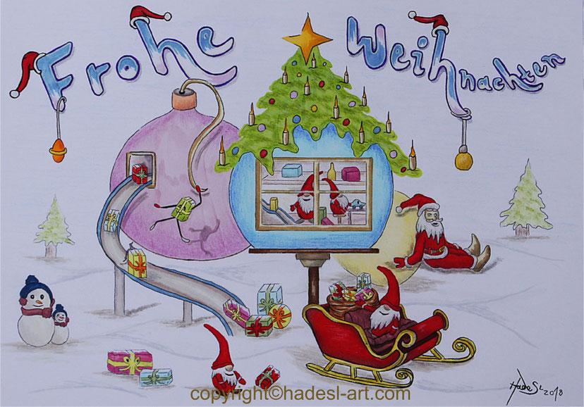 """""""Weihnachten 2018""""...Bunt-, Copic/Touchstifte"""