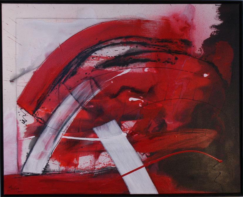 """""""die Auflösung""""  80x100 acryl auf Leinwand 2007"""