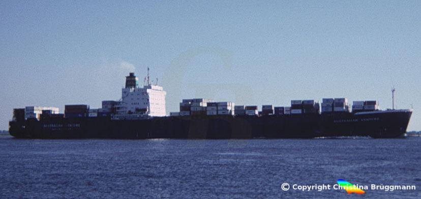 "ANL Kühlcontainerschiff ""AUSTRALIAN VENTRURE"" 1986"