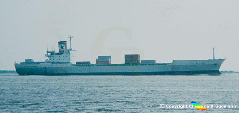 "Blue Star-Linie Containerschiff ""CALIFORNIA STAR"" 1983"