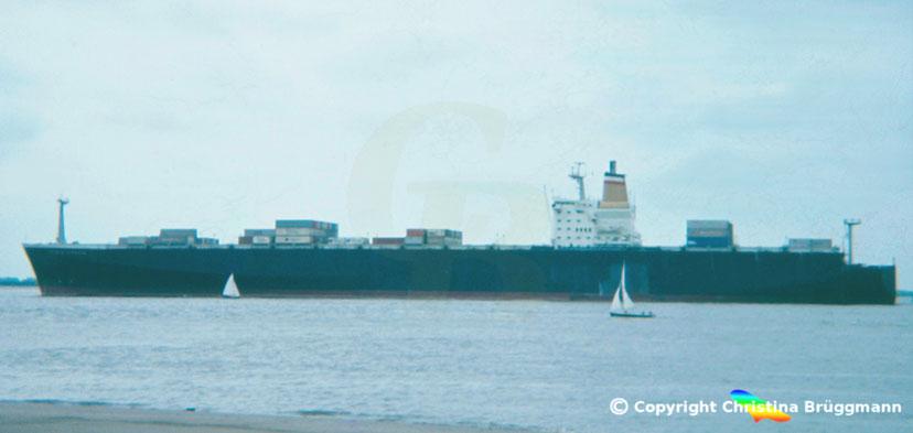 Hapag-Lloyd Containerschiff 3. Generation BREMEN EXPRESS 1983