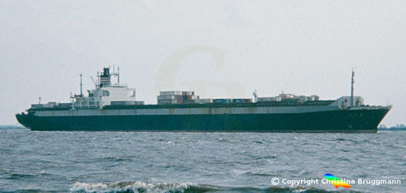 "NYK Containerschiff der 3. Generatiom  ""KURAMA MARU"" 1983"