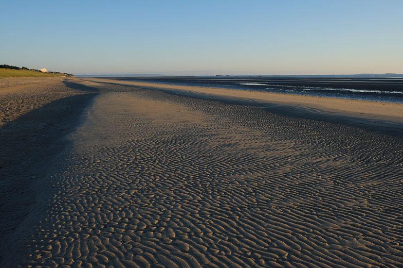 Mathieu Guillochon, photographe, couleurs, rivages, Manche, marée basse ,Utah Beach, Cotentin, ciel, estran, rivages,aube, beau temps normand, sable