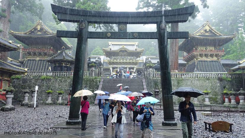 Ishi Dorii sous la pluie, Nikko, Japon, photo non libre de droits