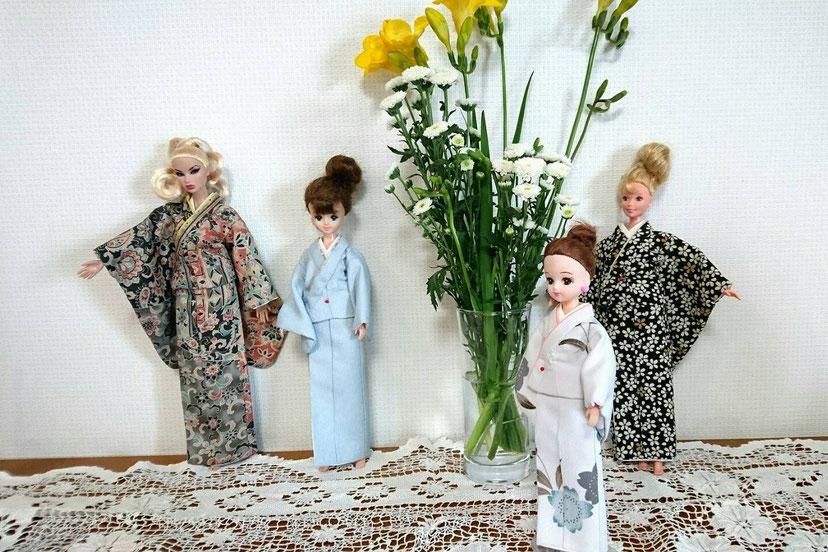 ドール 着物,kimono dolls,人形 着せ替え
