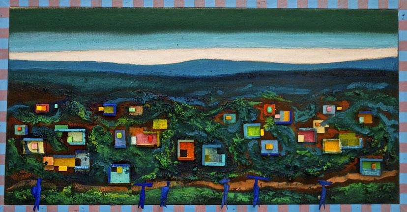 """""""Nuit exotique"""", Format 75 x 145"""