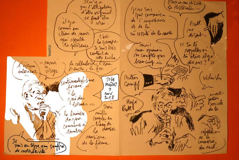 Rencontre publique avec Jose Muñoz animée par Henri Landré, novembre 2018 {Impressions d'Europe, Nantes}