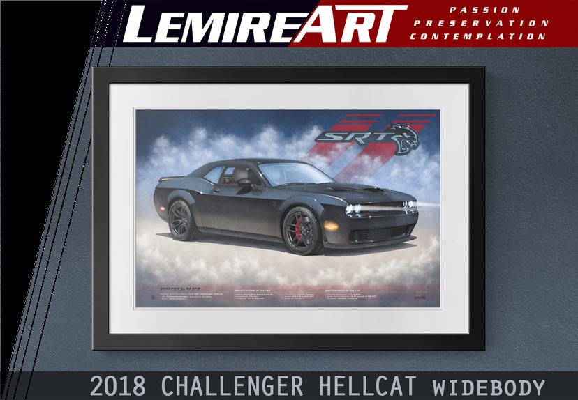 2018 Dodge Challenger Hellcat Wide Body by Alain Lemire Lemireart