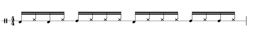 Grooves Cajon Beispiele Sechzehntelnoten