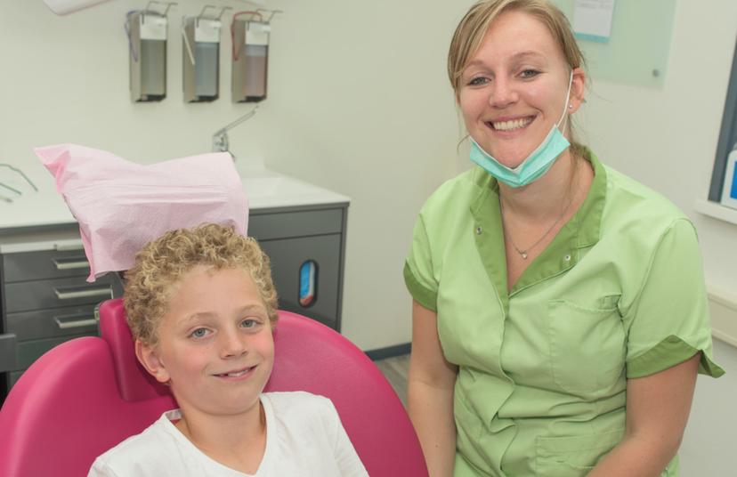 Amée Swarts, praktijkeigenaar en lieve tandarts