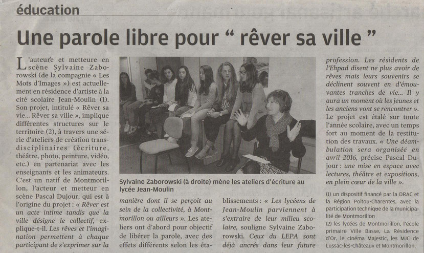 "Montmorillon  ""Rêver sa vie, Rêver sa ville"""