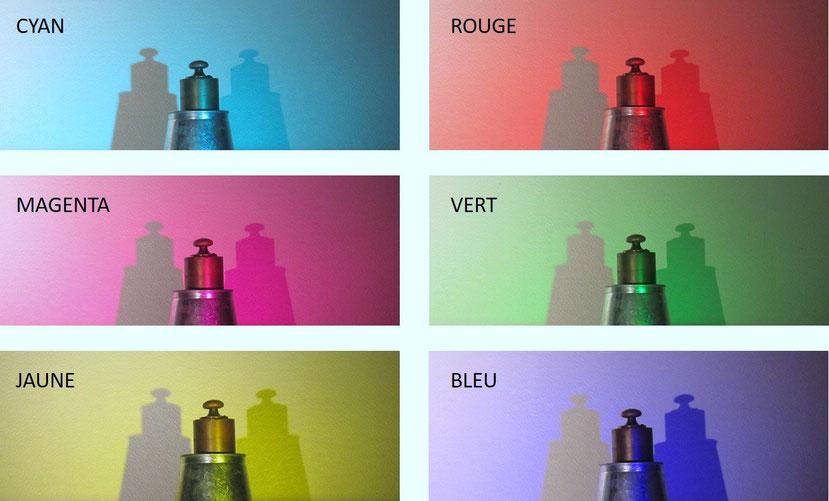 ombres colorées et couleurs complémentaires