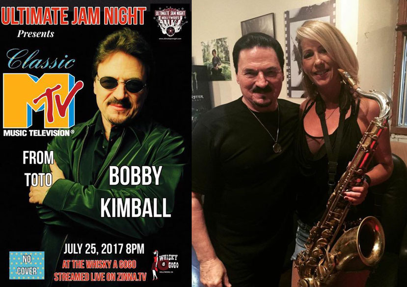 Bobby Kimball (Toto) und Katja Rieckermann im Whisky A GoGo - Photo: KRieckermann