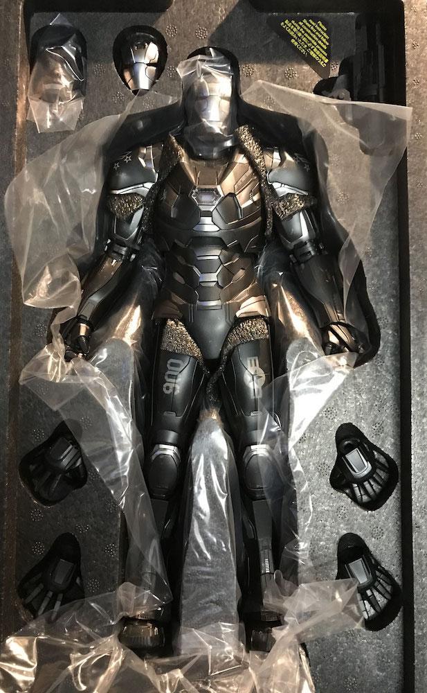 War Machine 1/6 Marvel Avengers Endgame Movie Masterpiece Series Diecast Actionfigur 32cm Led beleuchtet Hot Toys MMS530-D31