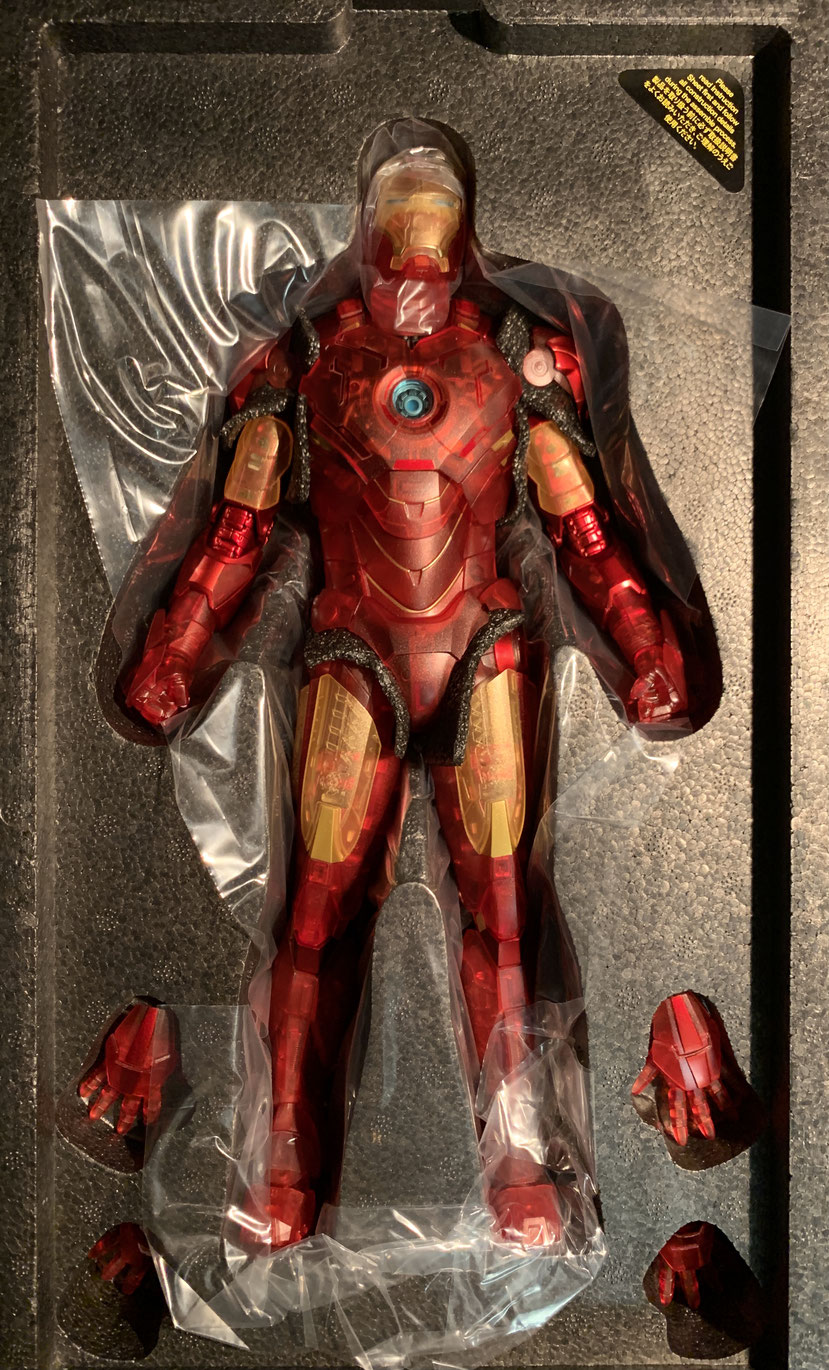Iron Man 2 MM Actionfigur 1/6 Iron Man Mark IV (Holographic Version) 2020 Toy Fair Sideshow Exclusive 30cm Hot Toys MMS568