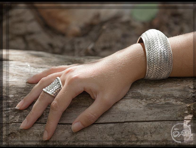 bague et bracelet en argent massif artisanat ethnique itsara.net