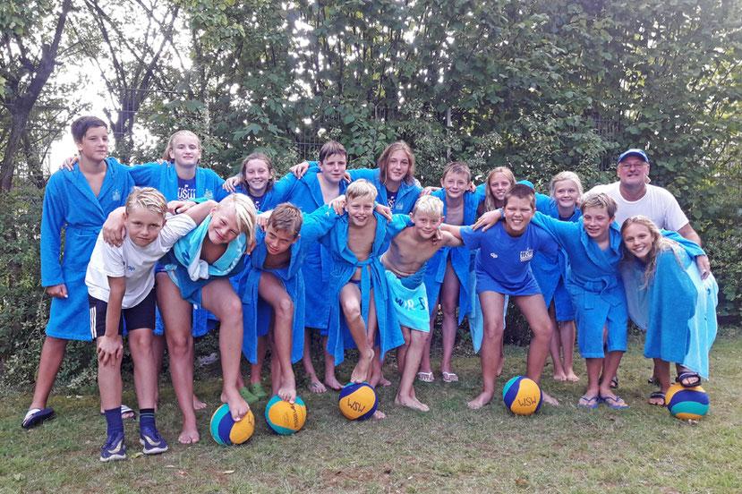 So sehen Meister aus: unsere WSW Wasserballer im August 2019