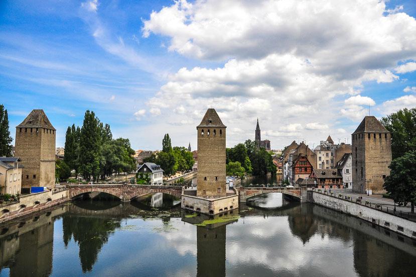 Frankreich, Straßburg und das Flüßchen Ill