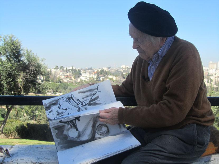 """Der Maler und Auschwitz-Überlebende Jehuda Bacon im Film """"Mut zum Leben"""""""