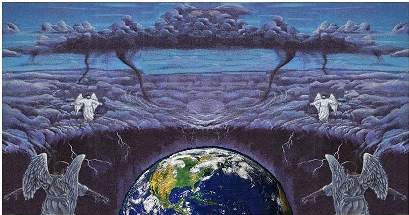 L'ange qui vient du soleil levant avec le sceau du Souverain de l'univers est Jésus-Christ à qui Dieu a confié tout pouvoir. Le chef des anges ordonne d'une voix forte aux 4 anges d'attendre avant de lâcher les vents destructeurs de la colère de Dieu.