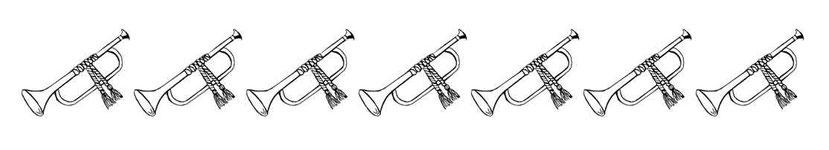 De la même manière que pour la prise de Jéricho, les 7 trompettes que tiennent les 7 anges présagent de grands bouleversements destructeurs. Les 7 anges qui tiennent 7 trompettes symbolisent l'armée céleste des anges qui prendront à l'intervention divine.