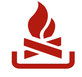 Icon Symbol Feuer Lagerfeuer rot