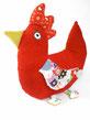 Huhn Maria - ein Original Kuschelwerk Design aus Frottee Stoffen der 60er und 70er.