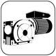 Schneckengetriebe mit Wechselstrommotor B35 Fuss Flansch