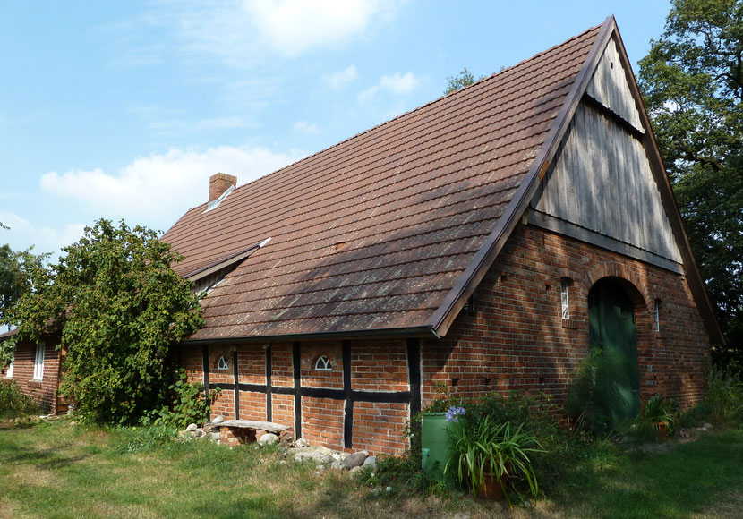 Ferienhaus Erde, historische Bauernkate, Heuerhaus, Aussenansicht