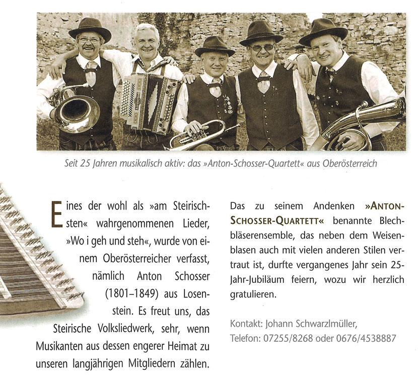 Der Vierzeiler Nr. 2 / 2016 (Steirisches Volksliedwerk)