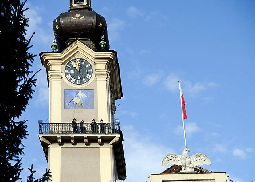 ASQ am Landhausturm Linz als Turmbläser