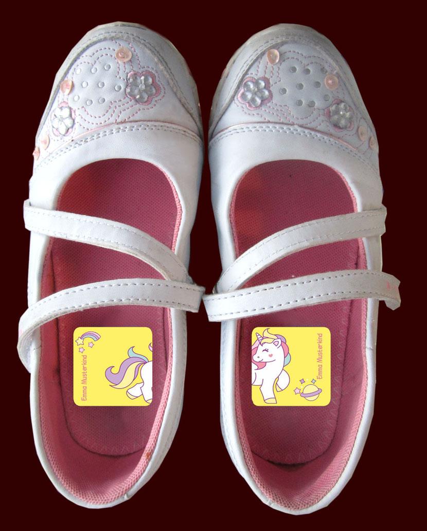 Schuhaufkleber 2-teilig links und rechts lernen
