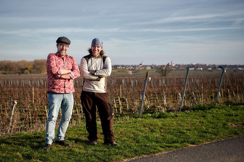 Biowinzer Gernot Schreiner und Christoph Hatheier