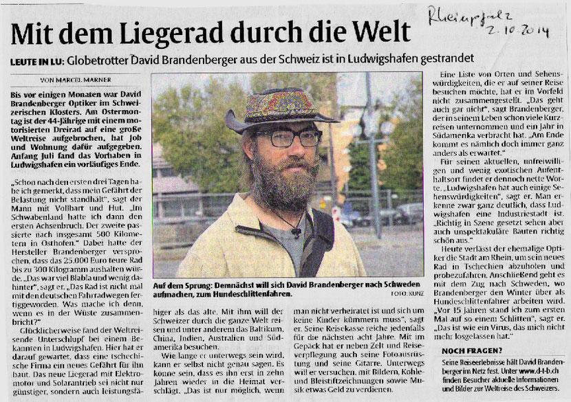 Bild:Rheinland-Pfalz,Rheinpfalz,David Brandenberger,d-t-b.ch,d-t-b,Zeitungsartikel,