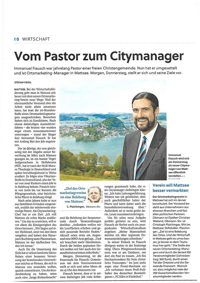 Salzburger Nachrichten, am 18.05.2016 (Interview/Wirtschaft)