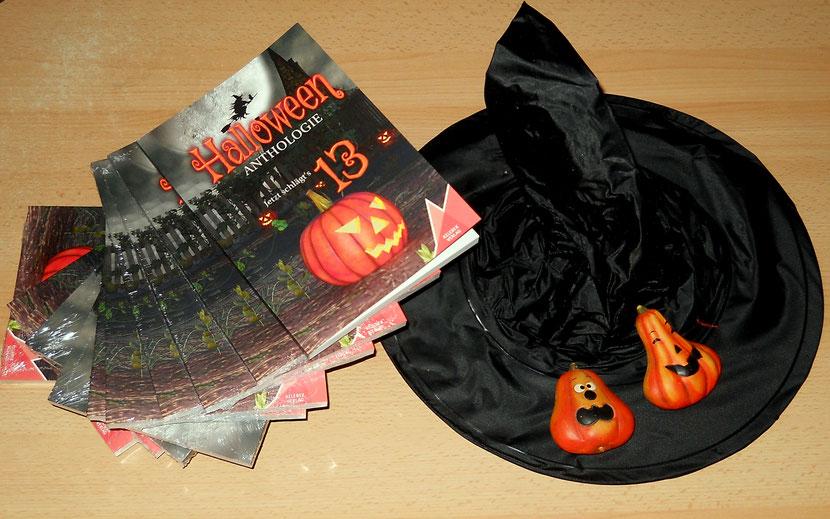 Zu bestellen bei mir oder direkt beim Kelebek Verlag. Die Halloween - Anthologie ist da!