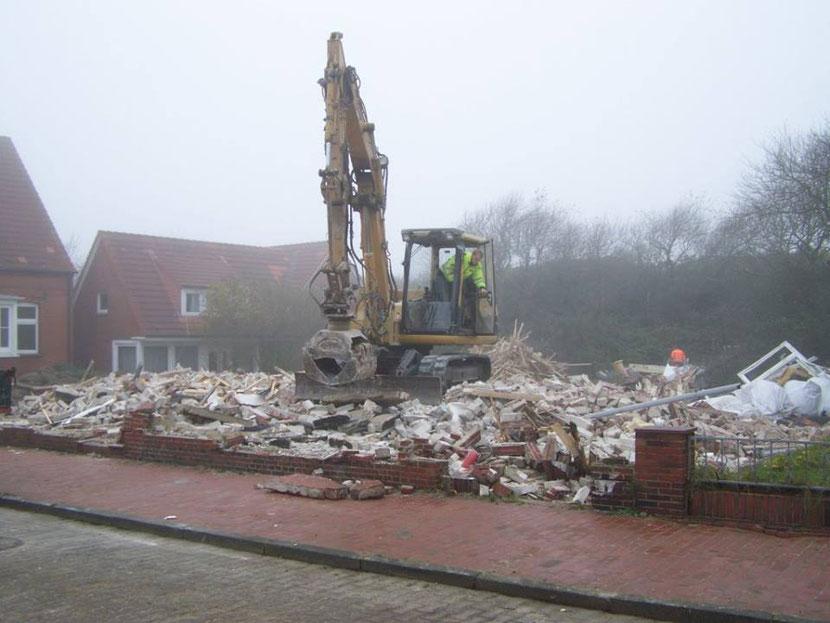 Abriss des Haus EDELWEIß