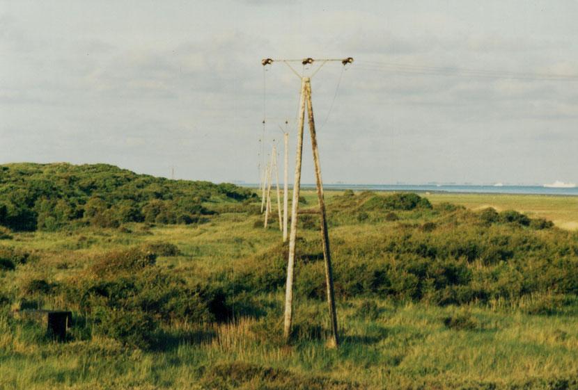 um 1985 , Stromversorgung zur Domäne Bill ,  Foto © Hennrick Wäcken