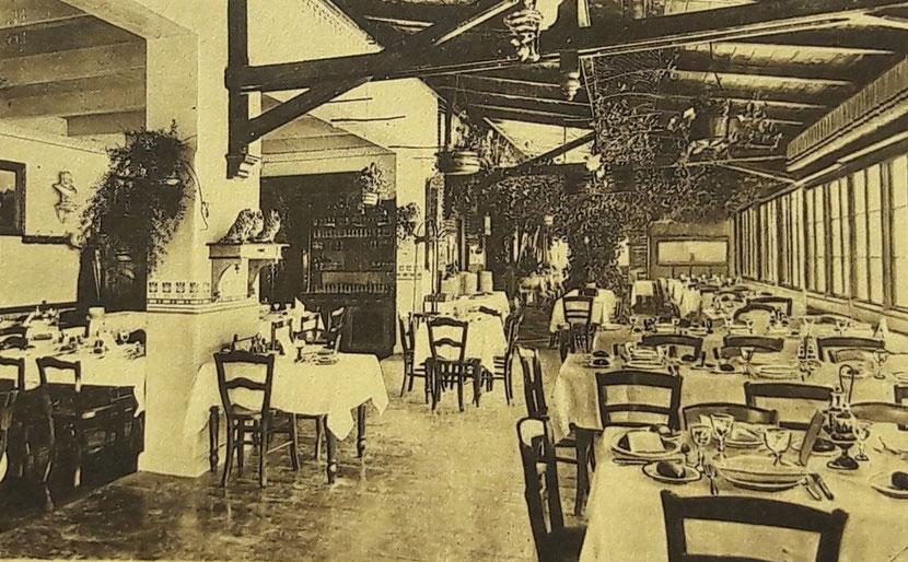 Veranda im Hotel Itzen , ca. 1902