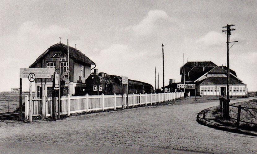 Blick von der Molenseite um 1930